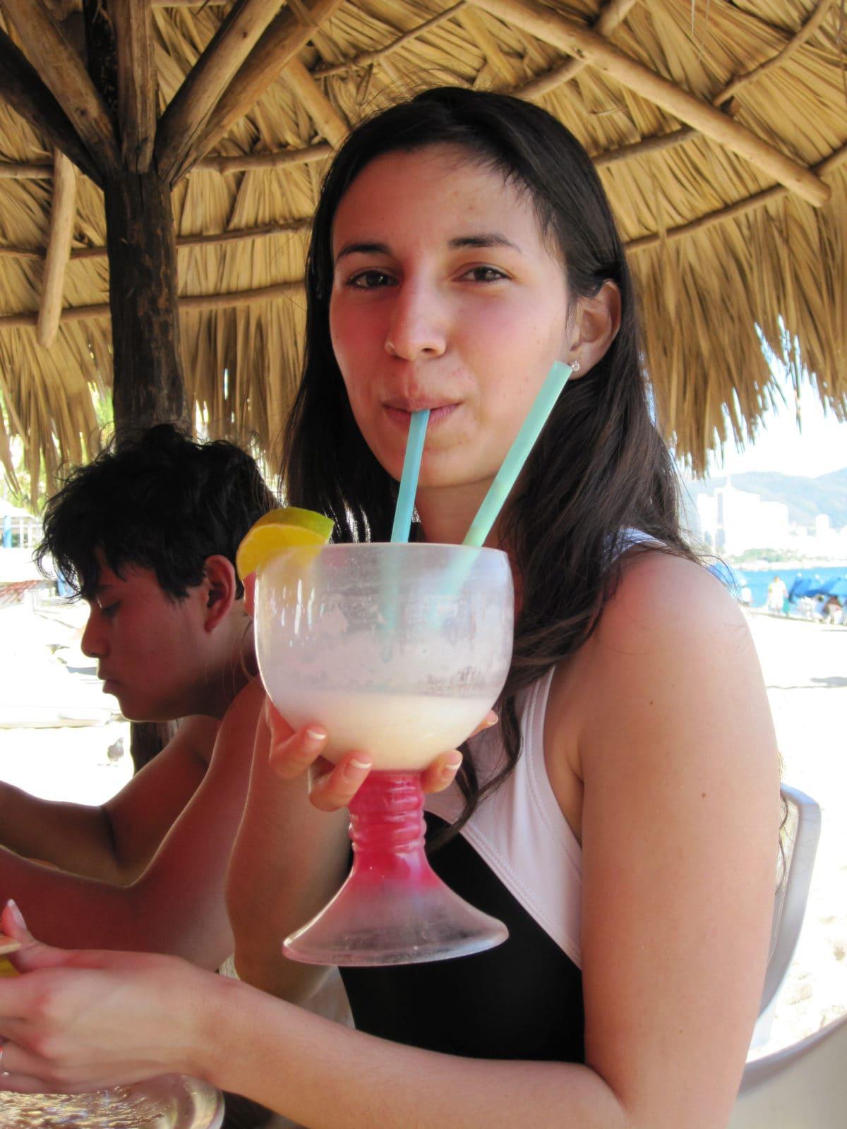 Mariam with piña colada