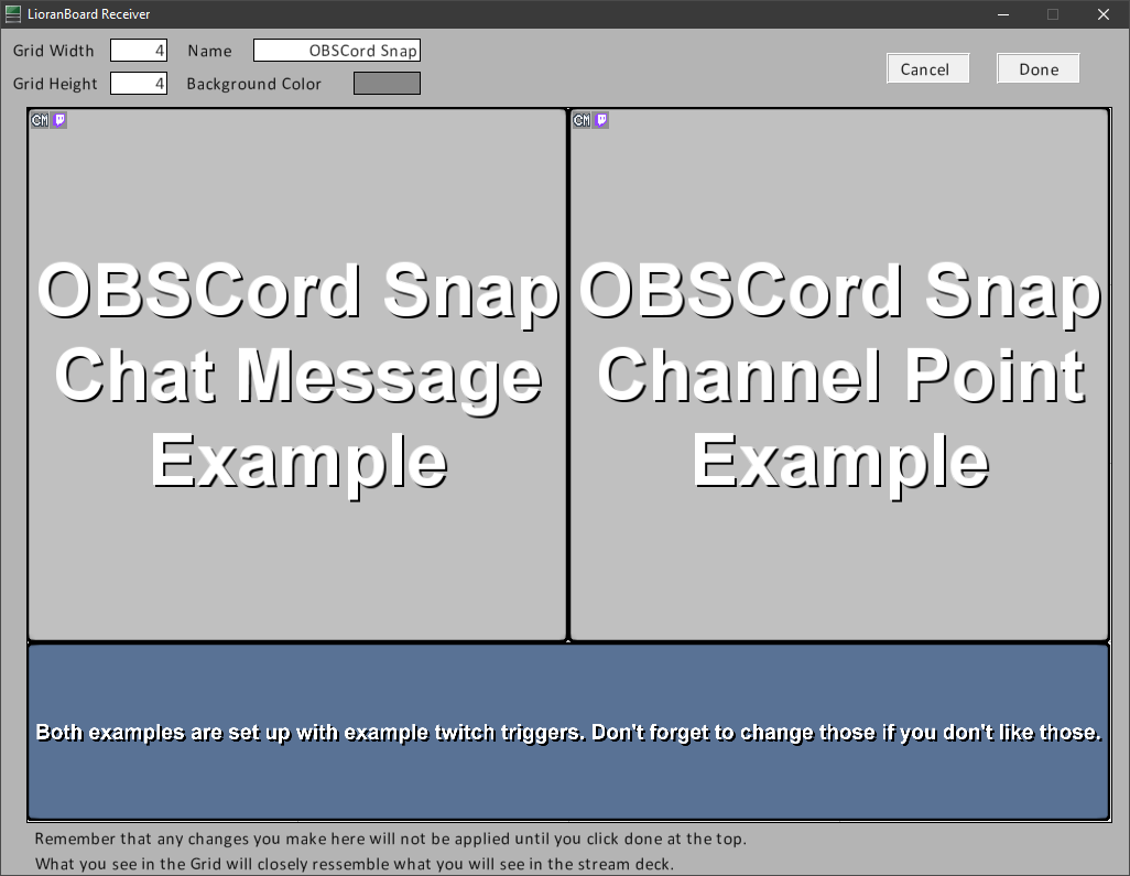 Example deck screenshot