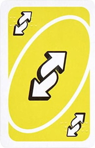 Braille Yellow Uno Reverse Card