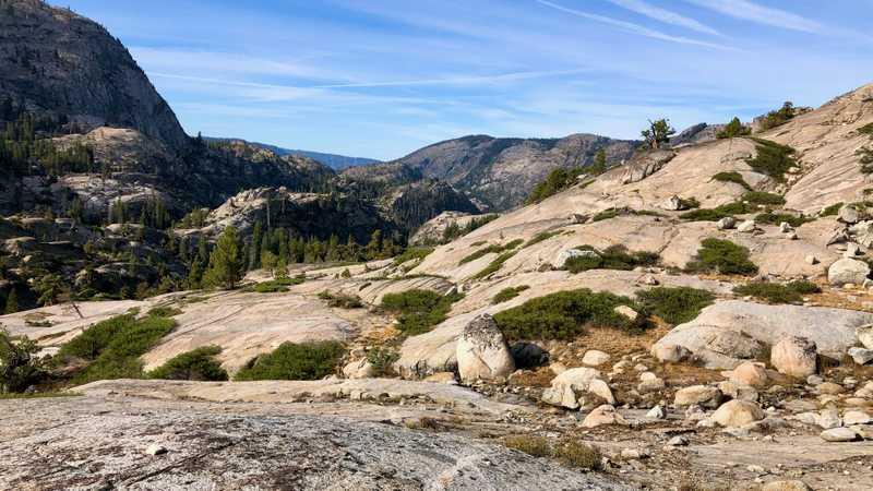 Bare rock on Macomb Ridge in Yosemite