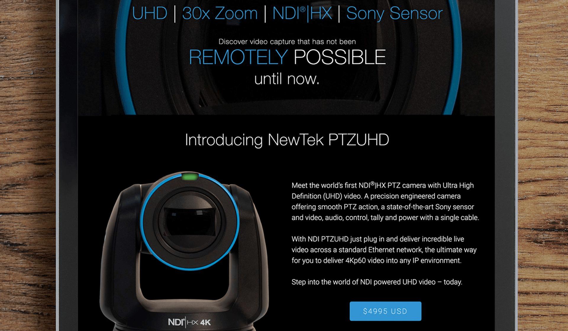 NewTek Camera Website
