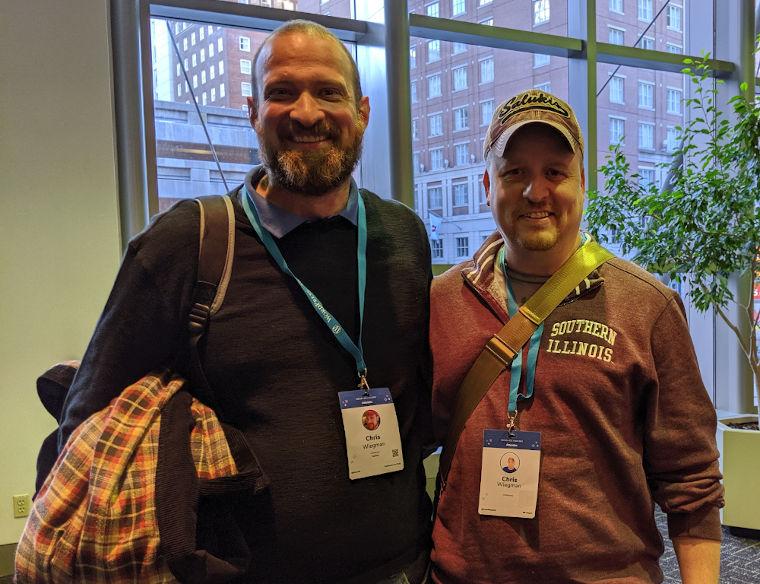 Chris Wiegman and I at WordCamp US