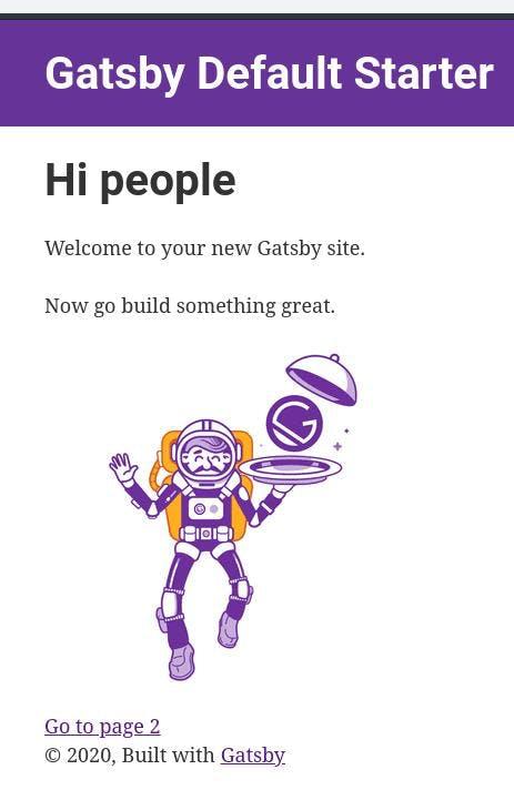 Gatsby default starter