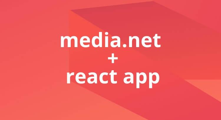 media.net scripts added to React website
