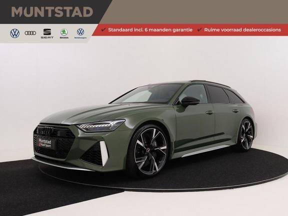 Audi RS6 Avant TFSI 600 pk quattro | 25 jaar RS Package | Dynamic Plus pakket | Keramische Remschijven | Audi Exclusive Lak | Carbon | Pano.dak | Assistentiepakket Tour & City | 360 Camera | 280 km/h