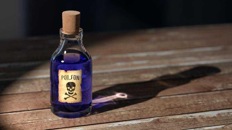 poison bottle graphic