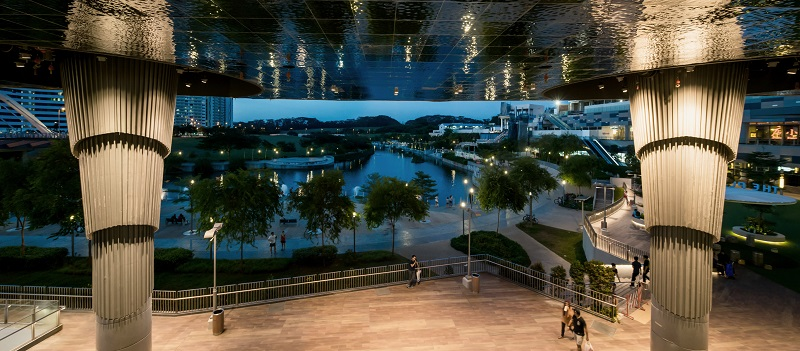 Waterway Point shopping mall at Punggol