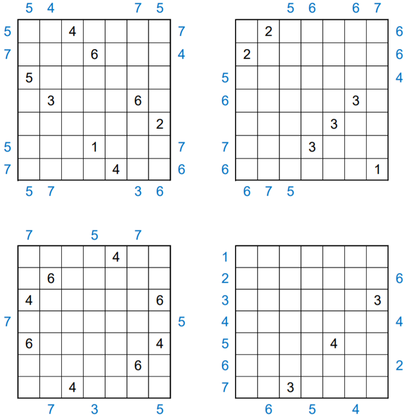 The four input grids