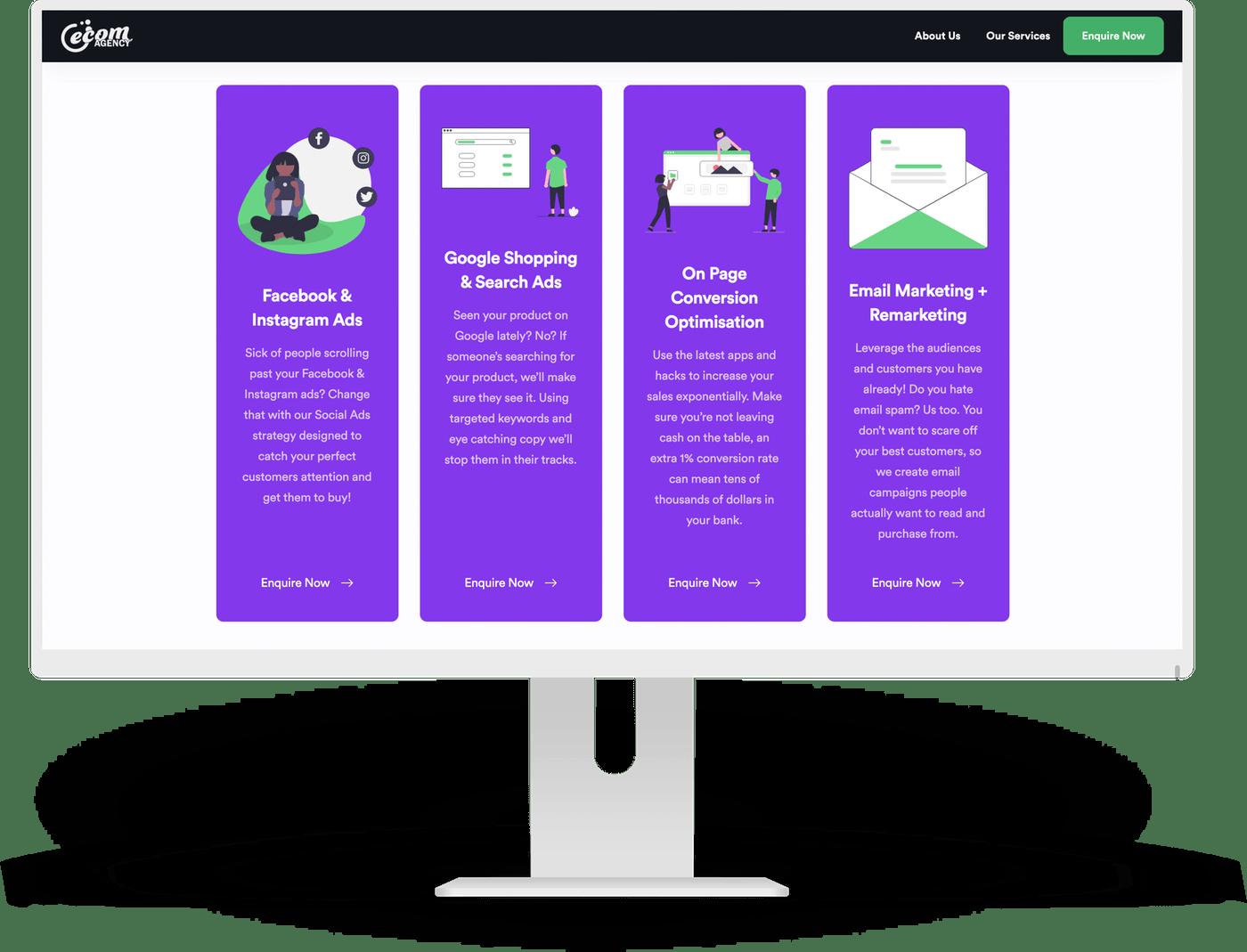 GatsbyJS Ecom Agency Website by Ten Squared