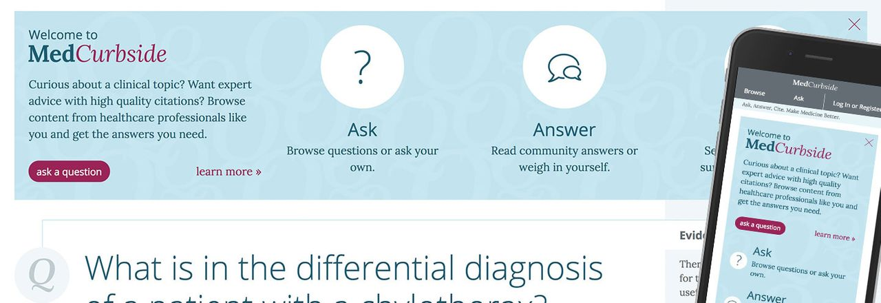 Ask or answer medical questions