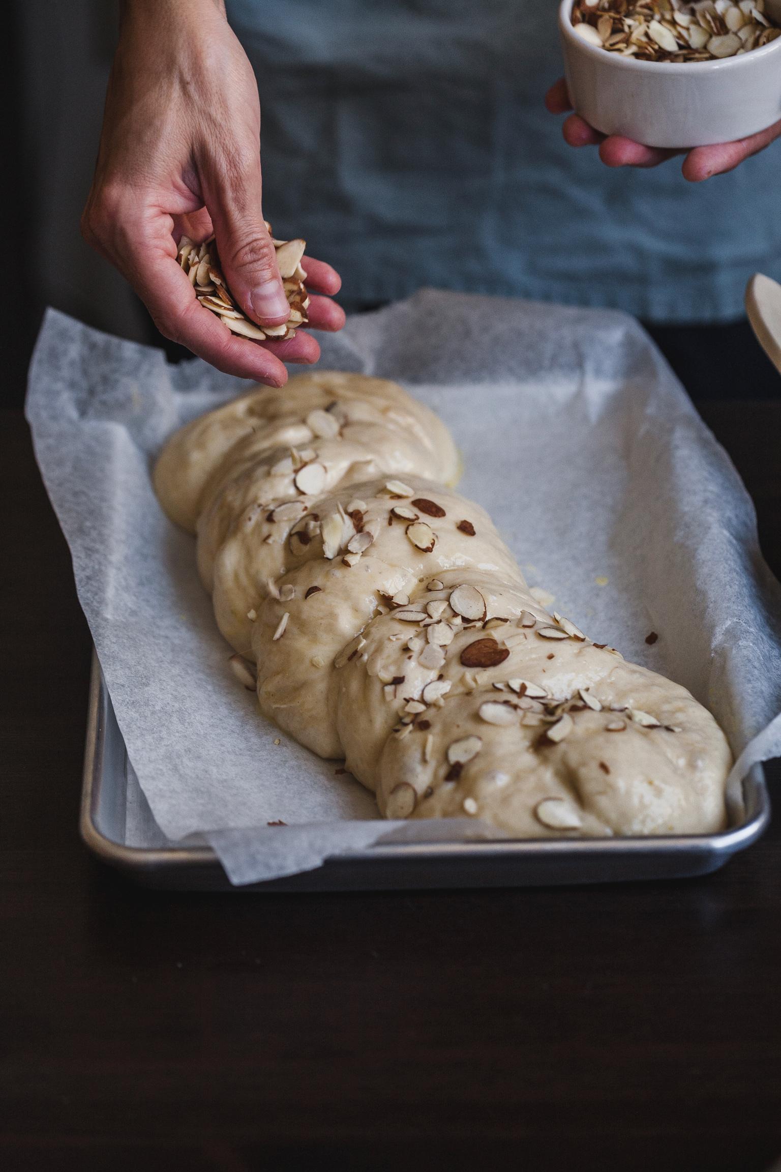 Tsoureki (Greekstyle Sweet Brioche Bread) Sweet Mahlab Bread