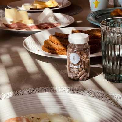 🥑 Κάνε το πιο σημαντικό γεύμα της ημέρας σου Great! Πρόσθεσε στην καθημερινή σου ρουτίνα τα 25 συστατικά της πολυβιταμίνης Great, που τόσο έχει ανάγκη ο οργανισμός σου! Take two ✌🏻γιατί η καλή μέρα από το πρωί φαίνεται 😉 Ξεκίνα την νέα σου ρουτίνα σήμερα από το link in bio. ⠀⠀⠀⠀⠀⠀⠀⠀⠀ 🥑 Make the most important meal of the day Great, by adding to your daily routine Great multivitamin's 25 ingredients, which are exactly what your body needs!  Take two ✌🏻 to seize the day 😉 Start your new routine today from link in bio. ⠀⠀⠀⠀⠀⠀⠀⠀⠀  #greatforwomen #breakfasttime #goodmorning #motivationmonday #healthyhabits #wellness #multivitamin #greatmultivitamin #vickykaya #greatbyvickykaya #healthylife *Το προϊόν δεν προορίζεται για την πρόληψη, αγωγή ή θεραπεία ανθρώπινης νόσου. Τα συμπληρώματα διατροφής δεν πρέπει να χρησιμοποιούνται ως υποκατάστατο μιας ισορροπημένης δίαιτας.