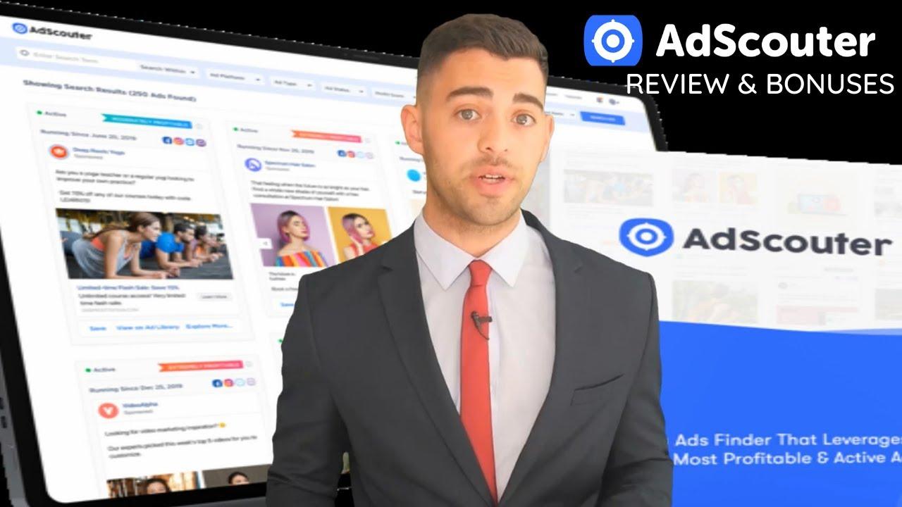 No.#1 Facebook Ads Spy Tool Adscouter Review 2021