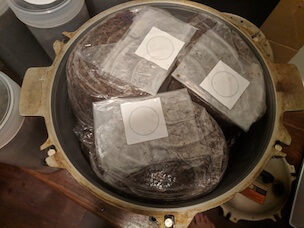 Pressure cooked filter patch bags