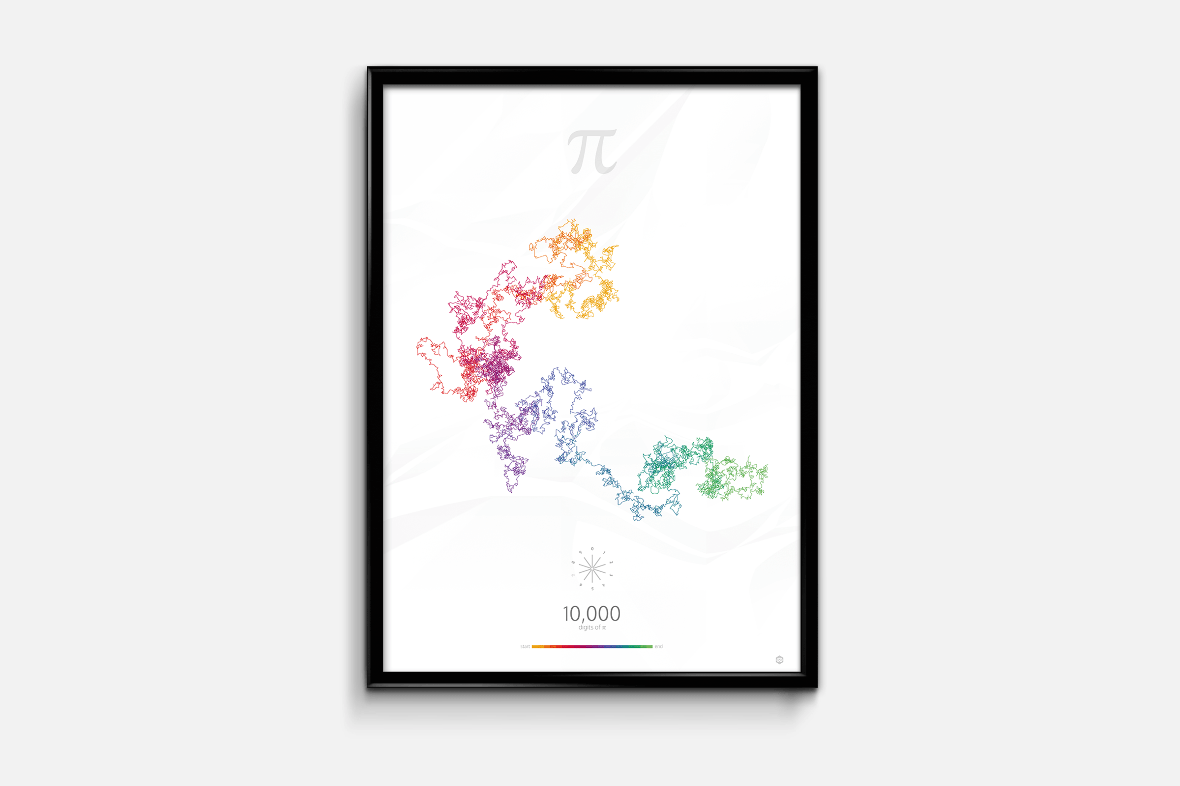 The poster of the first 1000 digits of pi