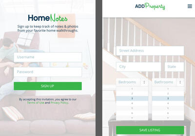Home Notes screen shot