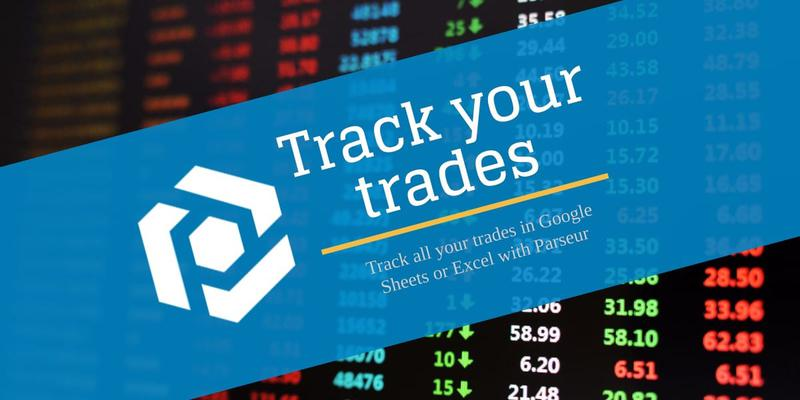 Track trades in Google Sheets or Excel cover image