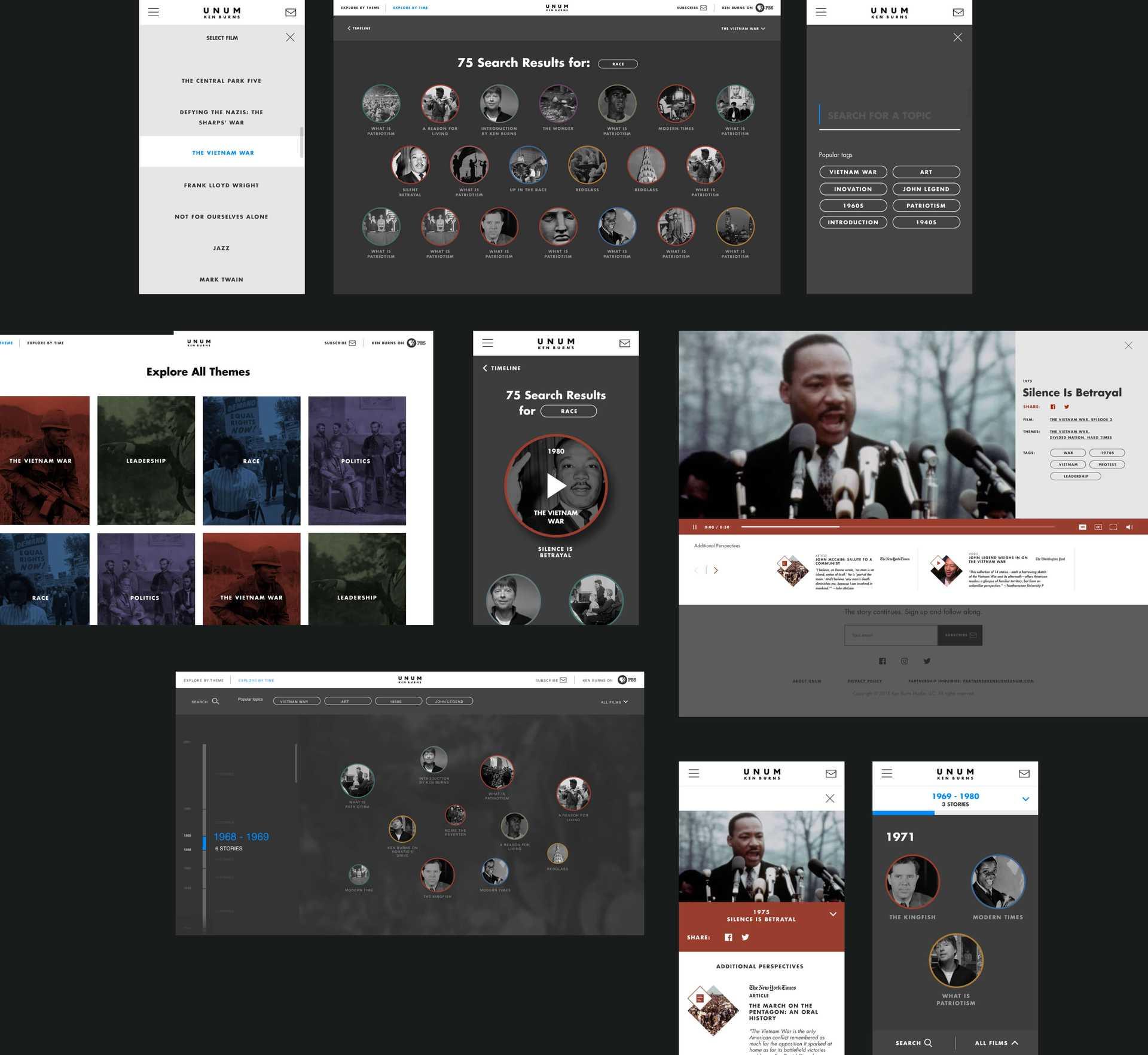 Ken Burns website collage