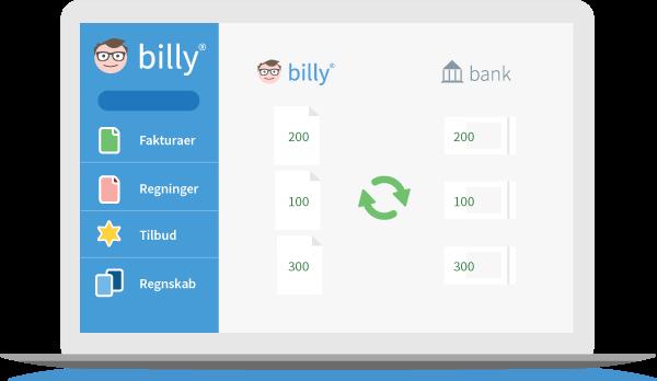 Billy Regnskabsprogram og automatisk banksynkronisering