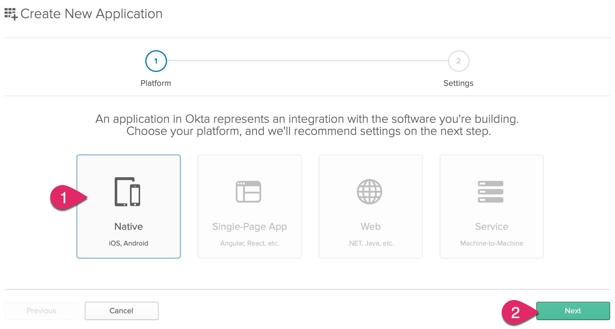 Create a native application