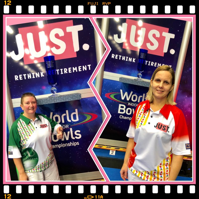 FORMER CHAMPIONS ALISON MERRIEN MBE AND ELLEN FALKER TAKE OUT THE SECOND WOMEN'S WORLD MATCHPLAY SINGLES SEMI FINALSPOT