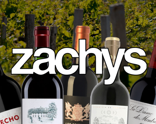 Zachys' logo on vineyard background