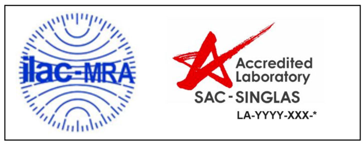 Combined ILAC MRA Mark for Accredited Laboratory