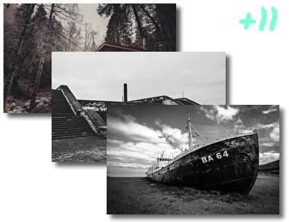 Great Abandoned Places theme pack