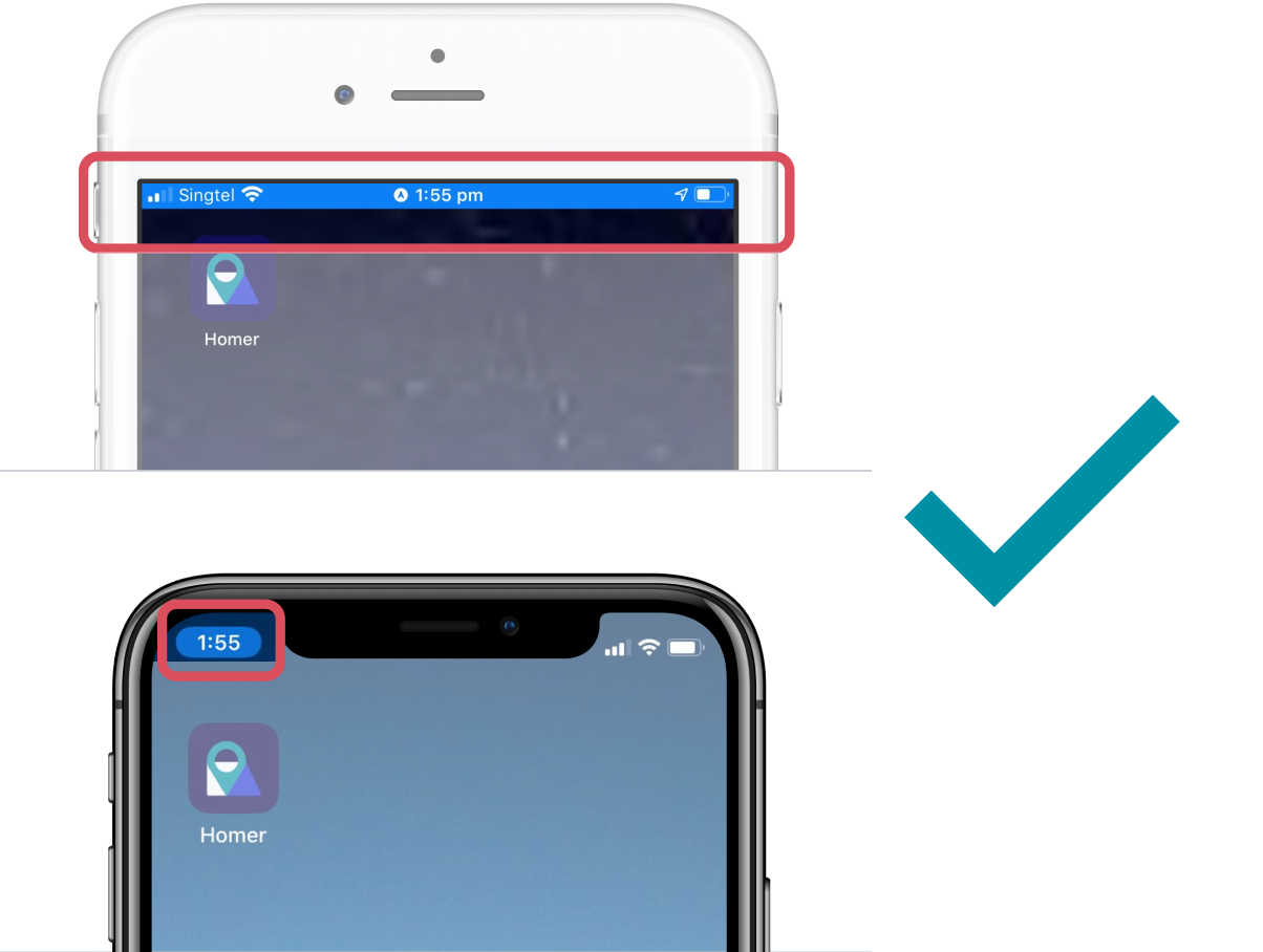 iOS location bar