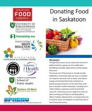 Donating food brochure