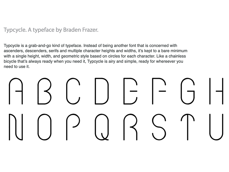 Typcycle font face