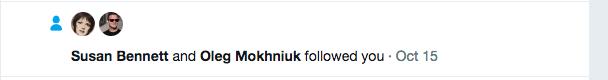 followed on Twitter