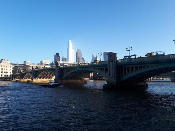 London skyline from the south bank of the Thames