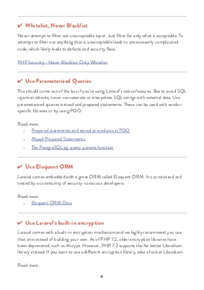 Laravel Security Checklist page 2