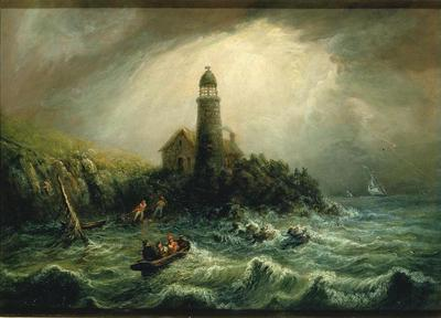 [Sea View Of Cape Poge Lighthouse (Charles Hubbard, 1844)](https://artvee.com/dl/sea-view-of-cape-poge-lighthouse)