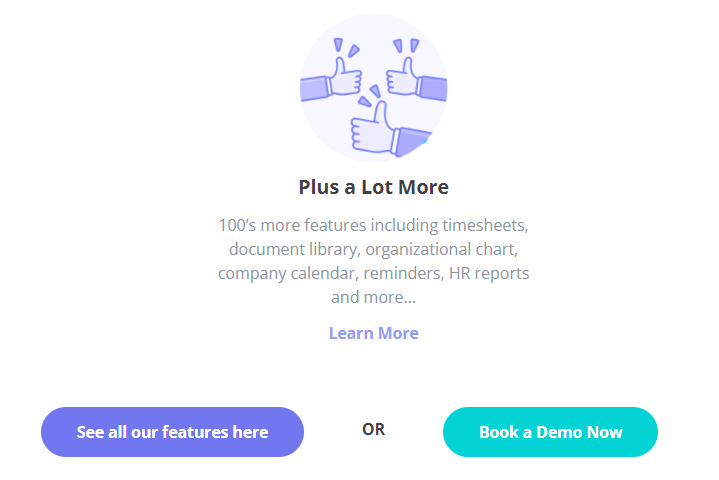 SaaS Landing Page Tips with Josh Garofalo: Screenshot of HR Partner's CTA buttons