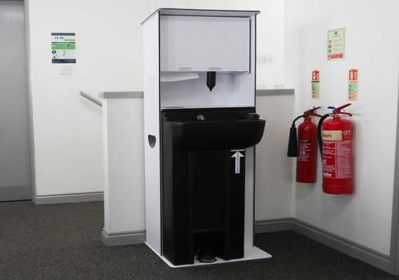 Large covid-19 hand wash station