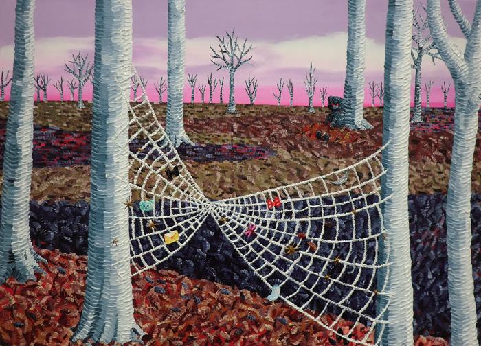 Net in autumn