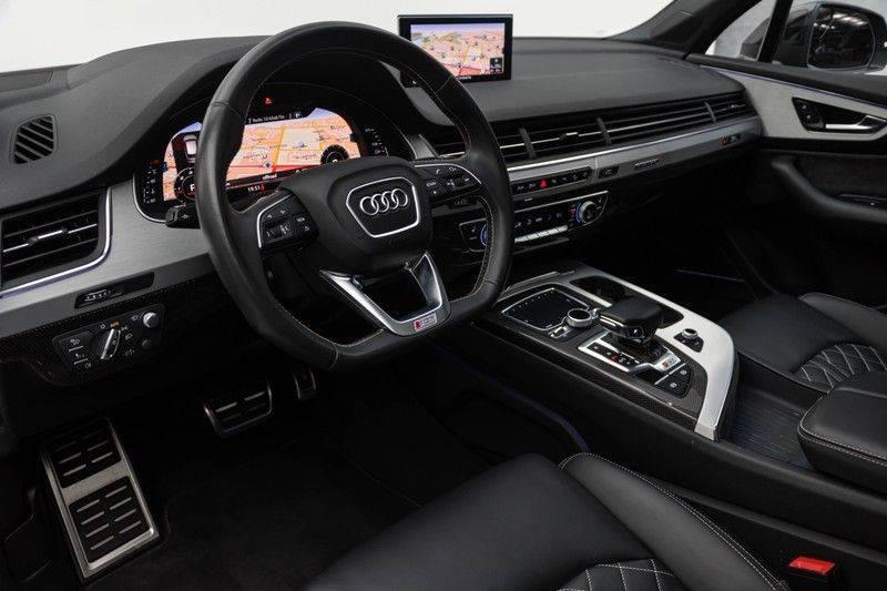 "Audi SQ7 4.0 TDI V8 Quattro 435pk 7 Pers. Panoramadak BlackOptic B&O NightVision Luchtvering ACC ValconaLeder+Memory Matrix Head-Up Navi-High Keyless Trekhaak 22"" Camera Pdc afbeelding 18"