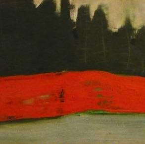 "Alice Kask, Estonia. ""The Red Rock"" 1997. Cardboard, acrylic 40x75cm"