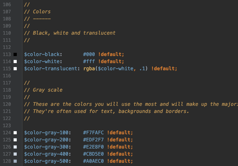 Zenplates Sass style variables