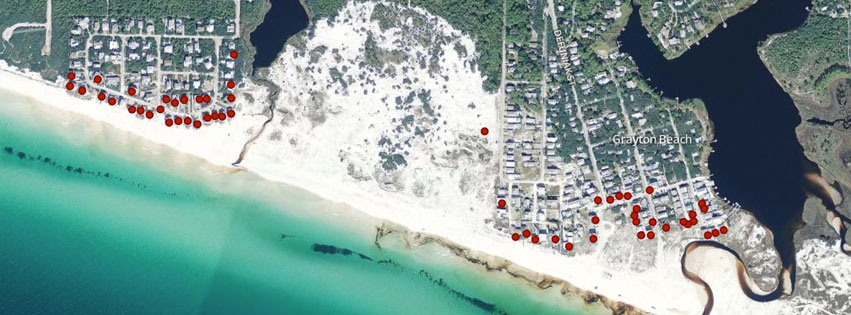Mapping on the beaches of Florida