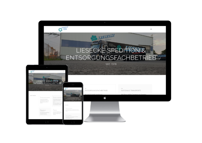 Bild von Website der Spedition K. Liesecke GmbH