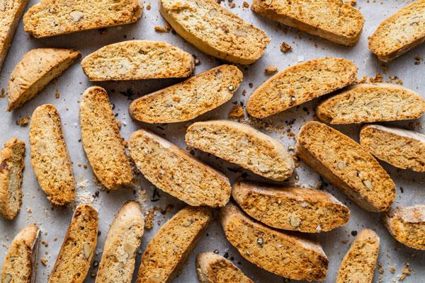 Savoury Parmesan and Herb Walnut Biscotti (Paximadia)