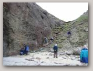 Extension of the Great Glen Fault, Ollaberry. Copyright Shetland Geotours  » Click to zoom ->