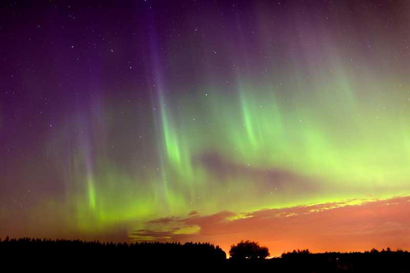 The Canadian Northern Lights in northwestern Canada