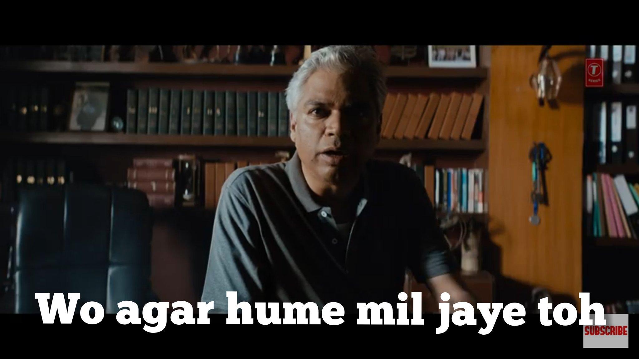Prakash Belavadi in Saaho Trailer wo agar hume mil jaye to