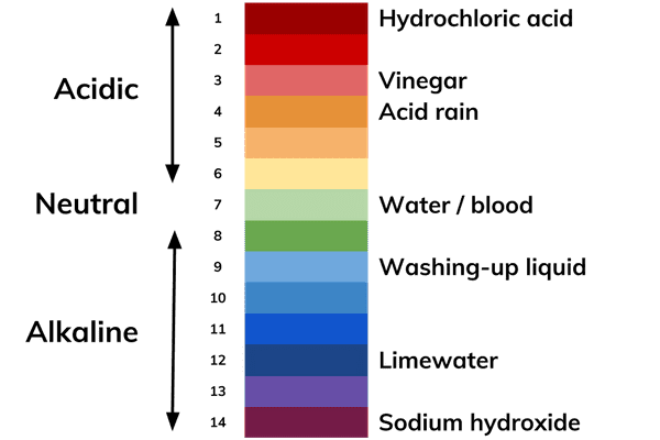 pH scale diagram chemistry