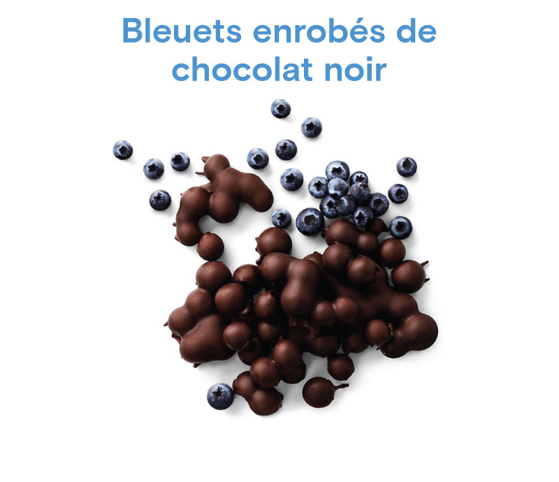 Chocolat Bleuets enrobés de chocolat noir