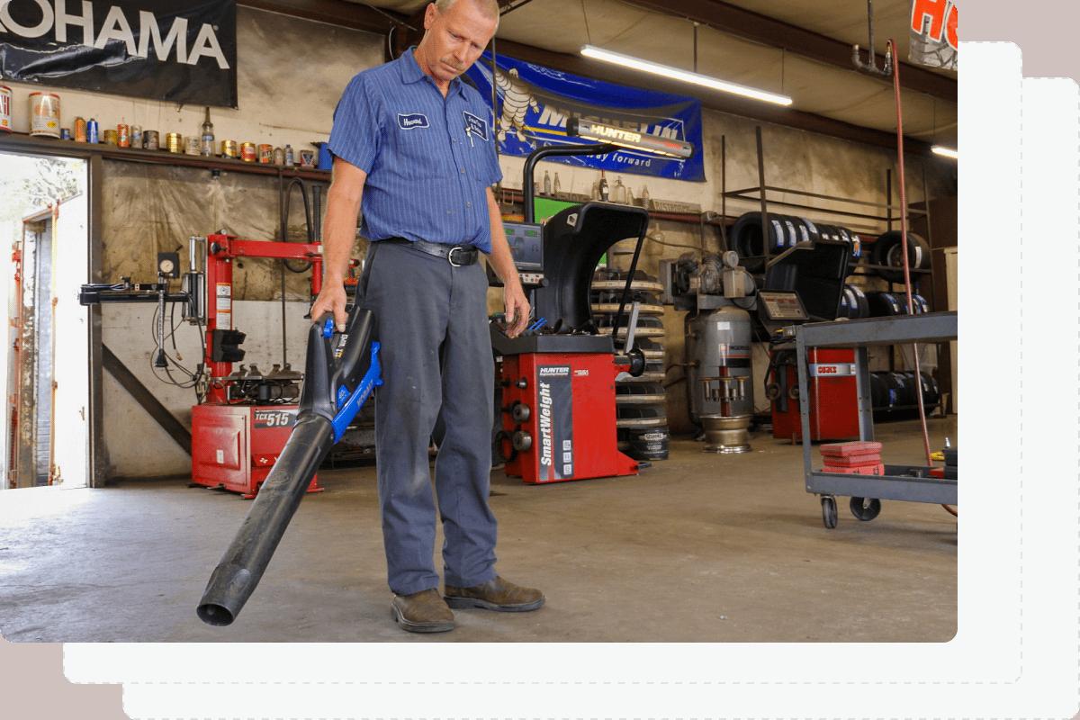 Equipment shop blower